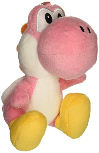 "Sanei Yoshi Mascot Strap Super Mario Series Plush, Pink, 5"" - 1"
