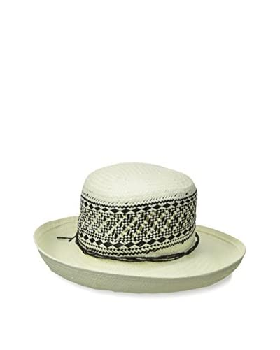 Giovannio Women's Off The Face Hat, Ivory/Black