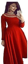 Sweety Plus Women's Bhagalpuri Silk Lehenga Choli (Mira_0025_Red_Free Size)