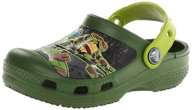 Crocs CC Teenage Mutant Ninja Turtles, Boys' Clogs, Seaweed/Volt Green, 10/11 UK Child
