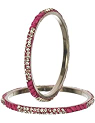 Nice Pink Bangle Set For Women (Pack Of 6) - Size 2.6 - B01ITI1T5O