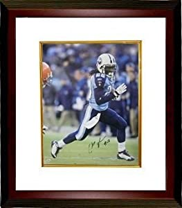 Chris Johnson Autographed Hand Signed Tennessee Titans 16x20 Photo Custom Framed by Hall of Fame Memorabilia