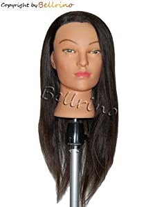 "24 "" Cosmetology Mannequin Manikin Training Head with Human Hair"