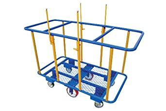 "Vestil PANEL-H Horizontal Panel Cart, 2,000-lb. Load Capacity, 41"" x 31"" x 64"""