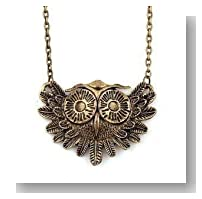 LadyGirl Christmas On Sale! Vintage Owl Necklace Long Pattern Necklace Coat Chain, Gift Idea, Gift Box Included