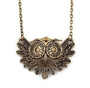 LadyGirl Christmas On Sale! Vintage Owl Necklace