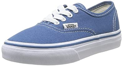 Vans Unisex-Child K Authentic Trainers, Navy, 2 UK