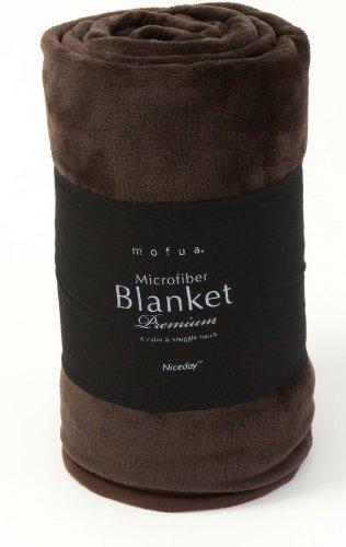 mofua(モフア) プレミアムマイクロファイバー毛布 シングル ブラウン 40000106