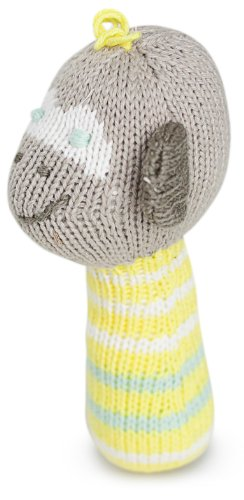 Finn + Emma Organic Cotton Baby Neutral Mini Rattle - Elephant - 1
