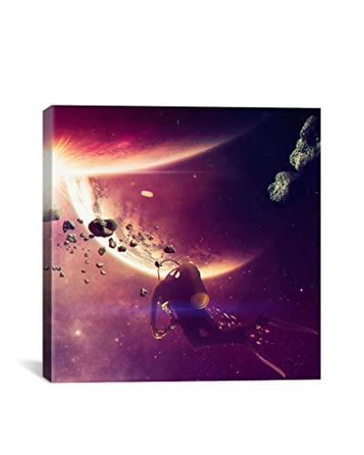 Astro Diver Gallery-Wrapped Canvas Print
