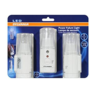 Sylvania Power Failure Light with LED Technology - 3 Pack Set