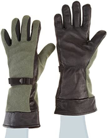 "Ansell ActivArmr 46-200 Nomex Kevlar Flame Resistant Fuel Handler Utility Glove with Gore Tex Lining, Chemical Resistant, Gauntlet Cuff, 14"" Length, (1 Pair)"