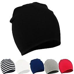 Zando Toddler Infant Baby Newborn Cotton Soft Cute Knit Kids Hat Beanies Cap B 6 Pack-Mix Color2