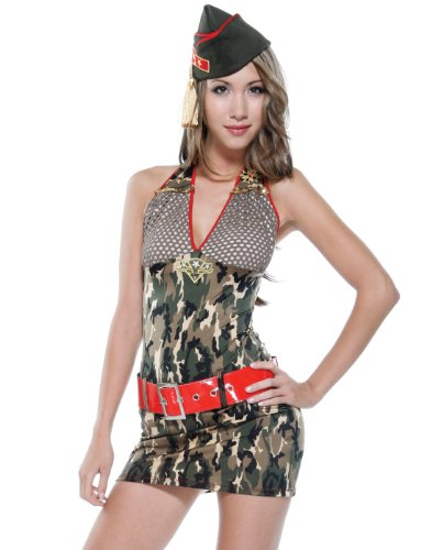 Forplay Women's Army Minx Adult Sized Costumes