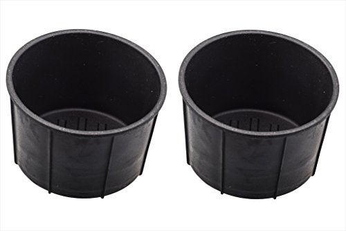 2009-2014 Ford F-150 Rear Center Console Cup Holder Rubber Insert Liners Set OEM