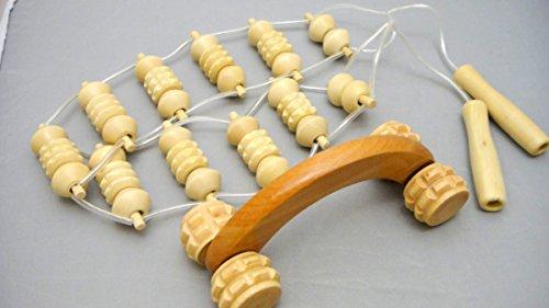 むくみ、疲れ解消に 木製 ウッド 背中 ハンディ マッサージ器 2個セット