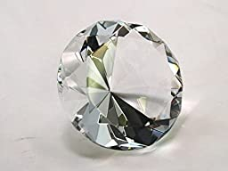 80mm Clear Crystal Diamond Jewel Paperweight