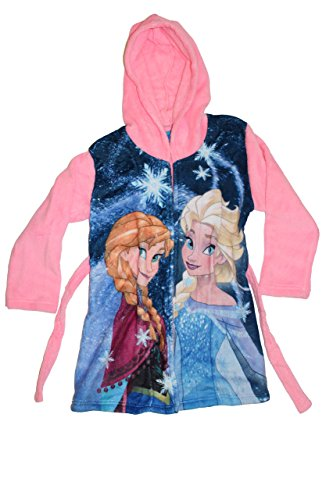 Disney Frozen-Frozen accappatoio-Vestaglia con Cappuccio Rosa 4 anni