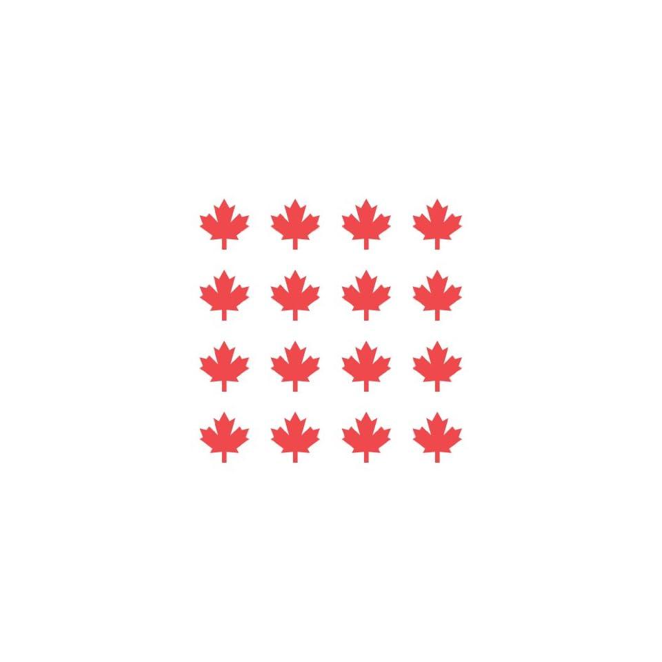 (16) Canada Maple Leaf Vinyl Decal Sticker 1x1