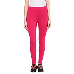 Ajile by Pantaloons Womens Solid Legging Fuchsia_ L