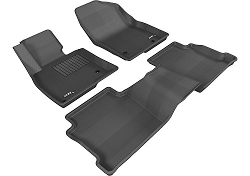 3D MAXpider Complete Set Custom Fit All-Weather Floor Mat for Select Mazda6 Models - Kagu Rubber (Black) (Mazda 3 Rubber Mats compare prices)