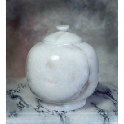 Dome White Pet Urn