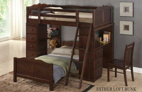 Loft Bed Over Desk 5827 front