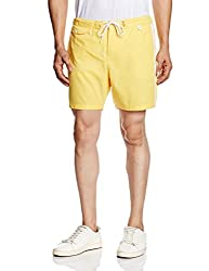 People Men's Polyester Shorts (8903880395230_P10102173569512_36_Yellow)
