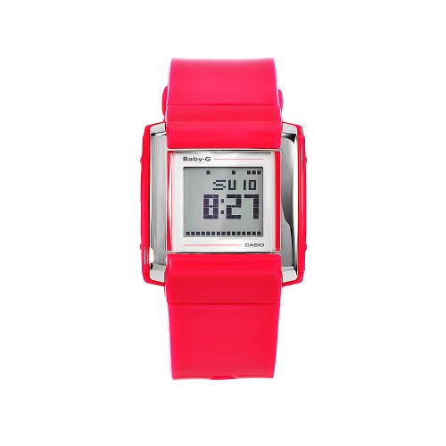 Baby-G Pink Resin Digital Ladies Watch - BGD-110-4ER