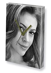 ALYSSA MILANO - Canvas Clock (LARGE A3 - Signed by the Artist) #js010