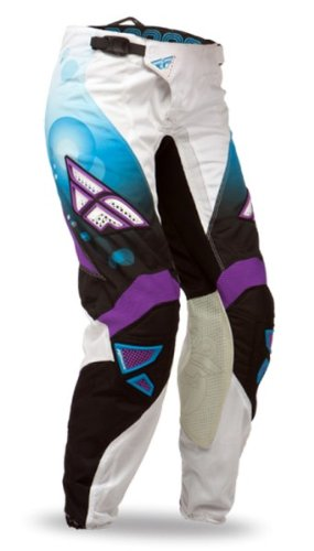 Fly Racing Youth Girl'S Kinetic Race Pants - 2014 - Youth 24/Blue/White front-1051754