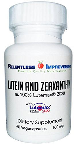Lutein 25mg and Zeaxanthin 5mg per vegecapsule as 100% Lutemax® 2020 Lutein