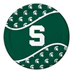 Buy Creative Converting Michigan State Spartans Dinner Paper Plates (8 Count) by Creative Converting