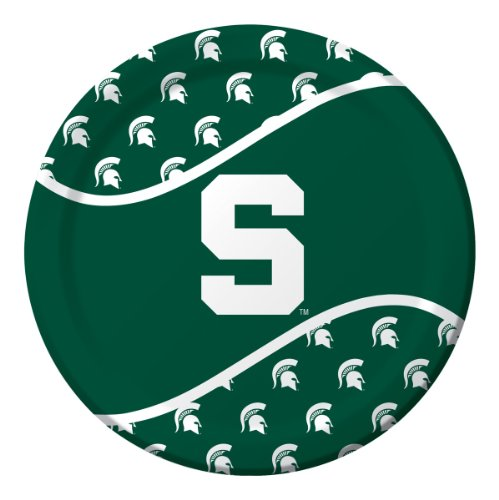 Creative Converting Michigan State Spartans Dinner Paper Plates (8 Count)
