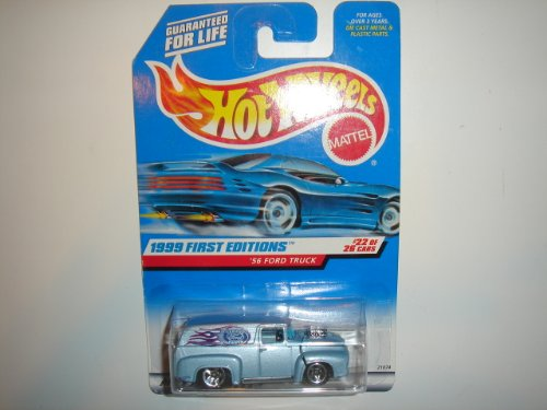1999 Hot Wheels First Editions '56 Ford Truck Ice Blue #927