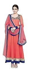 Jinaam Dress Women Georgette Dress Material (Jd-7286 _Pink)