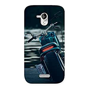 Impressive Cruise Bike Multicolor Back Case Cover for Micromax Canvas HD A116