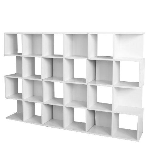 3x Modul-Regal Standregal M73, 124x187x28 cm ~ weiß online bestellen