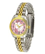University of Dayton Flyers Ladies Gold Dress Watch With Crystals