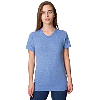 American Apparel Unisex Triblend Short Sleeve Track T tr401 - Athletic Blue - S