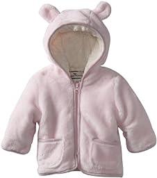 Widgeon Baby Girls\' Hooded Fuzzy Jacket, Pink, 24 Months
