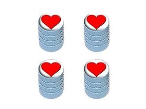 Heart – Love Tire Rim Valve Stem Caps – Light Blue