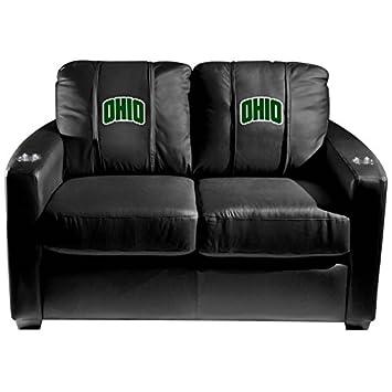 XZipit College Silver Loveseat with Ohio University Secondary Logo Panel - Black