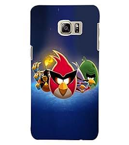 ColourCraft Amazing Birds Design Back Case Cover for SAMSUNG GALAXY S6 EDGE PLUS
