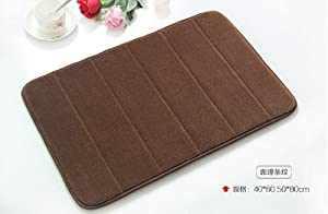 2pcs/lot Stocked Eco-friendly Memory Foam with Microfiber Surface Bath Mat Non-slip Bath Mat in Bathroom from YingYing Supplies