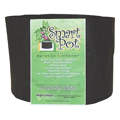 Smart Pots 5-Gallon Smart Pot Soft-Sided Container, Black (Plant Pots Outdoor compare prices)