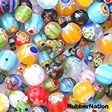 Millefiori-Glass-Beads-RAINBOW-Smorgy-MIX-80pc-6-10mm-100g