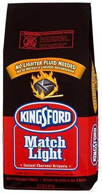 Kingsford Products 31259 Match Light Charcoal Briquettes, 11.6-Lb. Bag