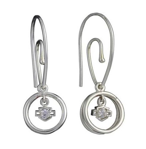 Harley-Davidson Stamper Women's Bar & Shield Dangle Earrings HE7503CZ