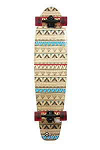 Quest Native Spirit Kick Tail Longboard Skateboard, 40-Inch by Made In Mars